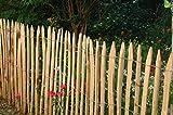 Gartenwelt Riegelsberger Staketenzaun französische Kastanie 5m, Höhe ca. 150 cm, Lattenabstand ca. 4-6 cm