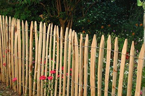 *Staketenzaun französische Kastanie 5m, Höhe ca. 150 cm, Lattenabstand ca. 4-6 cm von Gartenwelt Riegelsberger*
