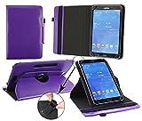 Emartbuy® Archos 101c Copper 10.1 Zoll Tablet Universal ( 9 - 10 Zoll ) Lila Premium PU Leder 360GradrotierendeStandFolioGeldbörseTascheHülle + Lila Eingabestift