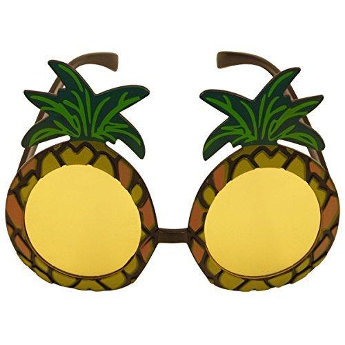 Zubehör Hula Kostüm - 1 x Ananas-sonnenbrillen Brille Hawaii Hula Kostüm Zubehör