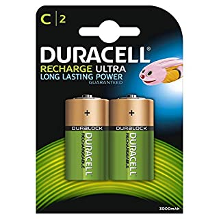 Duracell Ultra - Pilas recargables C 3000 mAh, paquete de 2 unidades (B0002FQWWS) | Amazon price tracker / tracking, Amazon price history charts, Amazon price watches, Amazon price drop alerts