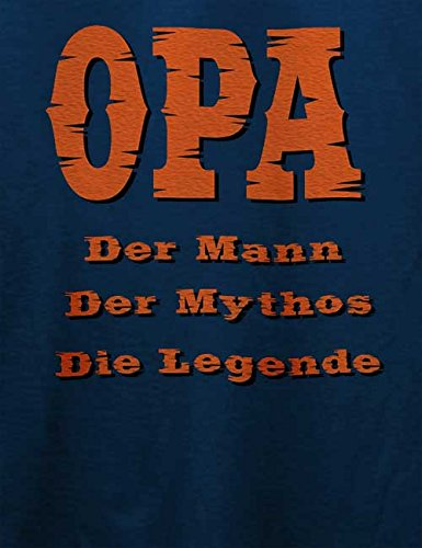 Opa Der Mann Herren T-Shirt Navy Blau