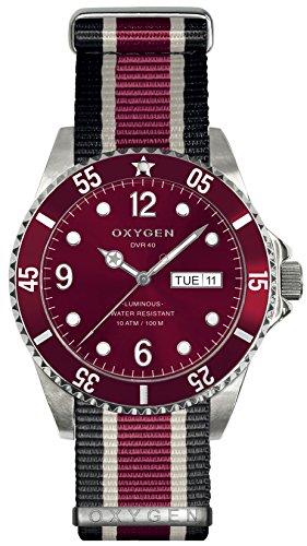 OXYGEN - EX-D-GRA-40-NN-BLIVPL - Montre Mixte - Quartz - Analogique - aiguilles luminescentes - Bracelet Nylon Multicolore