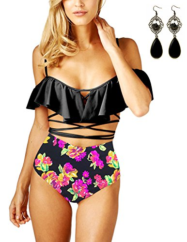 Sitengle Donna Bikini Floreale Costumi da bagno Fantasia Bendare ...