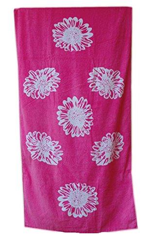 Ladies 2 pezzo Beach Set - Borsa grande floreale modello Spiaggia + Telo mare Pattern floreale rosa