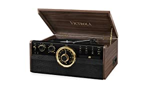 Victrola Empire Sistema de Sonido Tocadiscos 6-in-1 Bluetooth - Color Café