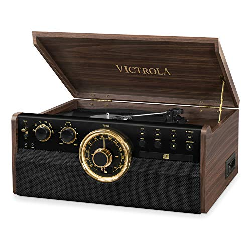 Victrola Empire 6-in-1 Bluetooth Record Player Music Centre - Expresso (6 In 1 Music Player)