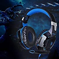 KOTION EACH Over-Ear Cuffie da Gioco, COMPUTER GAMING HEADSET con microfono stereo Bass luce del LED per Xbox 360, Tablet, Laptop, Mac OS, Linux, HTPC, IPTV, Google Android TV Box Etc