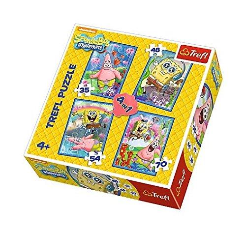 Trefl 34264 - Puzzle 4-in-1 SpongeBob und (Spongebob Patrick Und)