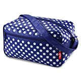 Cabin Max Arezzo, borsone da stipare 20x35x20cm, borsone a tracolla – ottimo come secondo bagaglio per Ryanair (blu/giallo)
