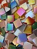 Happy-Mosaic Mosaiksteine mit Perlmutteffekt in bunter Mischung 1000g irisierende lose Steine