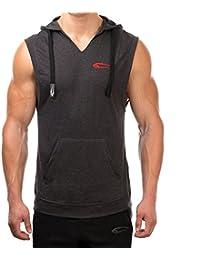 SMILODOX Sleeveless Hoodie Herren | Ärmelloses Kapuzenpullover für Sport Fitness Training & Freizeit | Sportpullover mit Kapuze - Pulli - Sportshirt - Muskelshirt