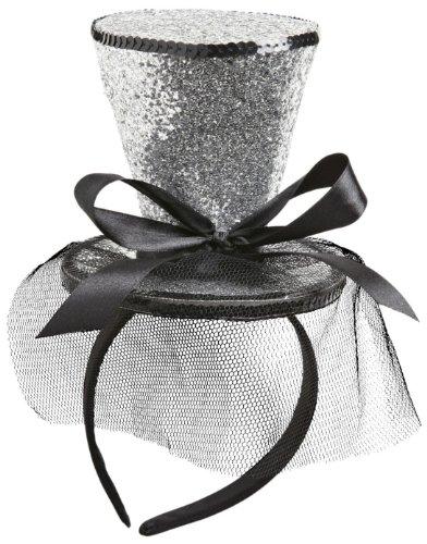 Widmann vd-wdm0068h mini cilindro glitter su cerchietto, argento, taglia unica