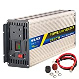 SUG 2500 W (Peak) 5000 W Power Inverter Pure Sine Wave DC 24 V auf AC 230 V 240 V Konverter Back Up Netzteil (UK-Stecker) für Klimaanlage, Mikrowelle, Kaffeemaschine, Leerstellen, Power Tools