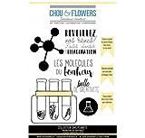 Tampons caoutchouc gomme montés sur mousse 'Chou & Flowers - Chic Planete' Molécules du bonheur