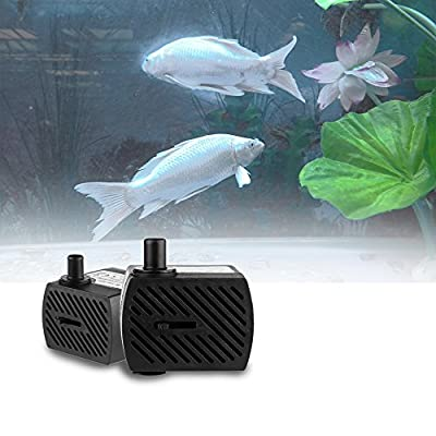 Sunsbell Pompe submersible eau, pompe submersible, ultra-silencieux EU Plug AC 220-240V 5W 350L / H D¨¦bit pompe Brushless Mini ¨¦tanche submersible Pompe ¨¤ eau pour animaux Fontaines / ¨¦tang / Aquarium / Fish Tank / Statuaire / hydroponique