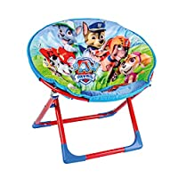 Paw Patrol Childrens Folding Moon Chair Kids Round Seat