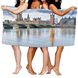 xcvgcxcvasda Funny Bath Towel London The Big Ben and Houses of Parliament Accros The River Great Britain International Soft Lightweight Beach Towel Pool Towel 31.5'x51.2' Quick Dry