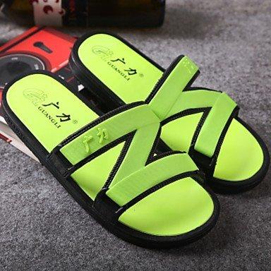 Slippers & amp da uomo;PU comfort estate sandali casuali piani del tallone sandali US7 / EU39 / UK6 / CN39