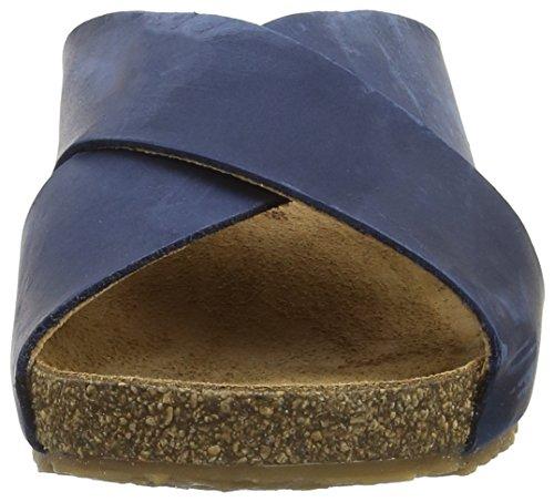 Haflinger Bio Mio, Sandales ouvertes mixte adulte Bleu - Blau (Blau 777)