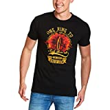 Elbenwald Ein Ring Sie zu knechten Herren T-Shirt für Herr der Ringe Fans Baumwolle Schwarz - S