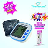 #3: Thermocare Smart Talking Microcomputer Intelligent Automatic Digital BP Monitor with digital thermometer