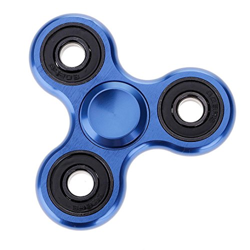 Fidget Hand Tri Spinner Metal Vovotrade Regalo di stuffer di stoccaggio del giocattolo di EDC per i bambini / adulti Blu