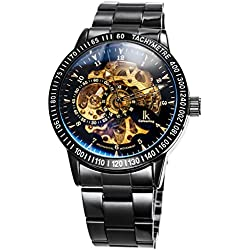 Alienwork IK Automatic Watch Self-winding Skeleton Mechanical Stainless Steel black black 98226-12
