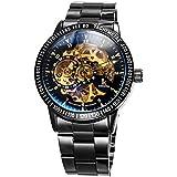 Alienwork IK mechanische Herren-Uhr Automatik Edelstahl schwarz 98226-12