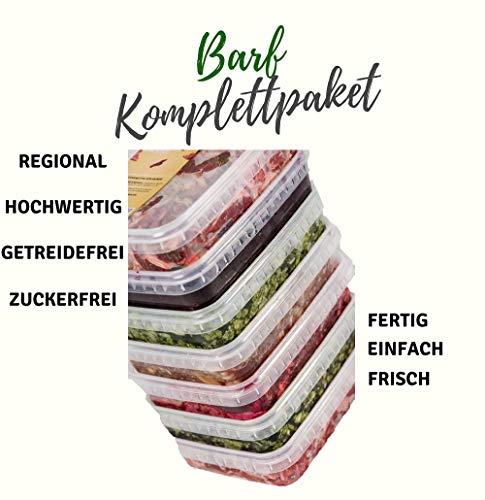 feed&meat Barffleisch Fertigbarf Regional in NRW produziert -Komplettpaket Getreidefrei Zuckerfrei -20x 500g gewolft in wiederverschließbaren Schalen (gewolft, 500g)
