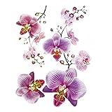 1art1 59573 Blumen - Rosa Orchideen Wand-Tattoo Aufkleber Poster-Sticker 85 x 65 cm