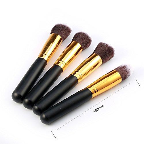 Kelis 4 Pcs / Set Gros Kit De Brosse À Maquillage Mixage De La Fondation Cosmétique (noir doré)