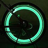 ZHUOTOP 2 piezas colorido bicicleta bicicleta radios de bicicleta neumático de alambre rueda LED brillante luz LampAA