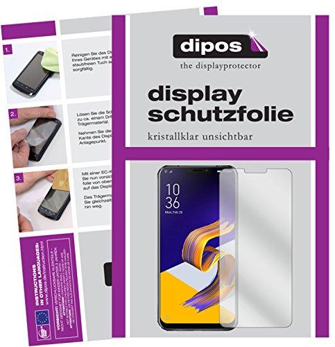 dipos I 6X Schutzfolie klar passend für Asus Zenfone 5Z ZS620KL Folie Bildschirmschutzfolie