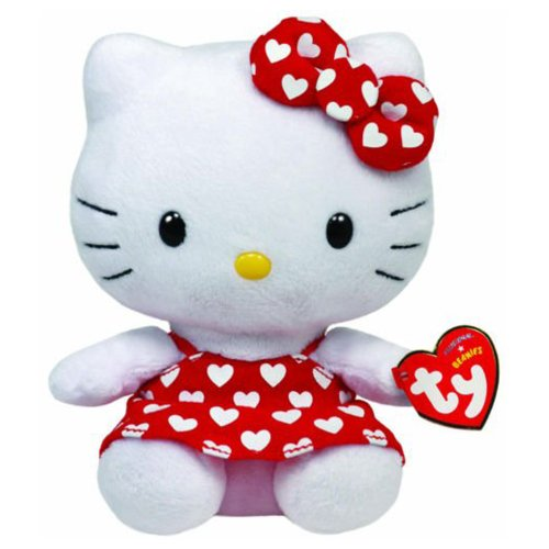 Ty Beanie Baby - Hello Kitty Rot Liebes-Herz-Kleid 16.cm (Ty Hello Babies Kitty Beanie)