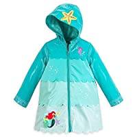 Disney Store Deluxe Ariel The Little Mermaid Rain Jacket Size XXS 3 3T Green