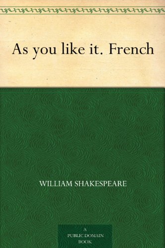 Couverture du livre As you like it. French