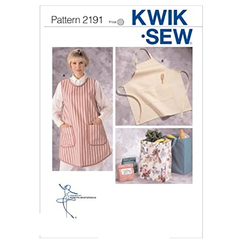 KWIK - SEW PATTERNS K2191 Aprons and Bags, Pack of 1, White