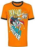 DOLCE E GABBANA Fashion Mens G8JX7THH79VHOV04 Orange T-Shirt | Autumn-Winter 19