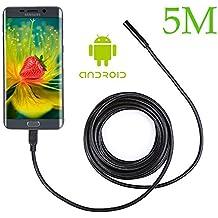 2,0MP Teléfono Móvil de endoscópica endoscópica para Samsung Galaxy S5S6S7Note 3456Smartphone, con ganchos magnético lateral Espejo, plástico, 5 m