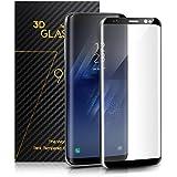 Film Protection Samsung Galaxy S8 – TOPLUS Protection Ecran Samsung Galaxy S8 3D Incurvé en Verre Trempé Haute Définition Anti-casse (Noir)