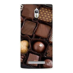Enticing Sweet Choco Pack Multicolor Back Case Cover for Oppo Find 7
