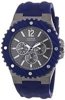 Reloj GUESS W11619G2 de cuarzo para hombre con correa de caucho, color azul de Guess