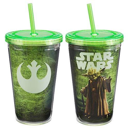 Star Wars Yoda 18 once Acrilico Viaggi Tumbler Cup Ribelle Drink film - Ribelli Acrilico