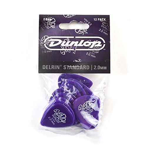 Dunlop 41 Púas DELRIN 500 STANDARD violeta oscura 2.00 mm