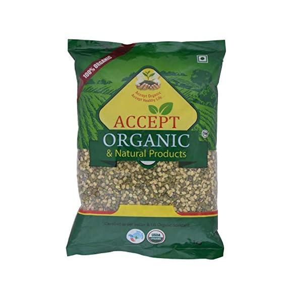 Accept Organic Moong Daal/Green Gram Split -1 Kg