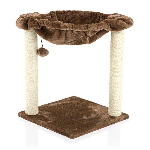 Centro de actividades rascador poste juguetes con resistente sisal gato