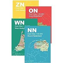 Topografische Atlas Nederland 1:50.000: 4-delige serie