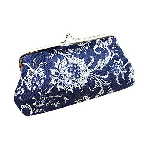ket, Damen Nationale Schnall Brieftasche Kartenhalter Geldbörse Kupplung Tasche Handtasche ()