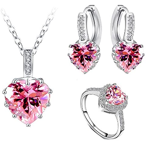 SaySure - Heart Shape AAA Zircon Wedding Jewelry (SIZE : 8)